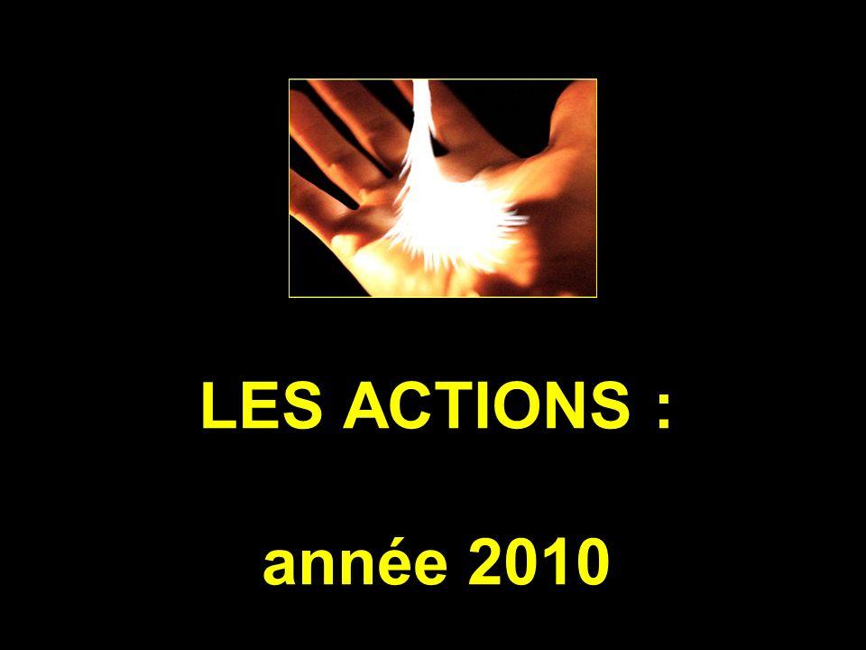 LES ACTIONS : année 2010