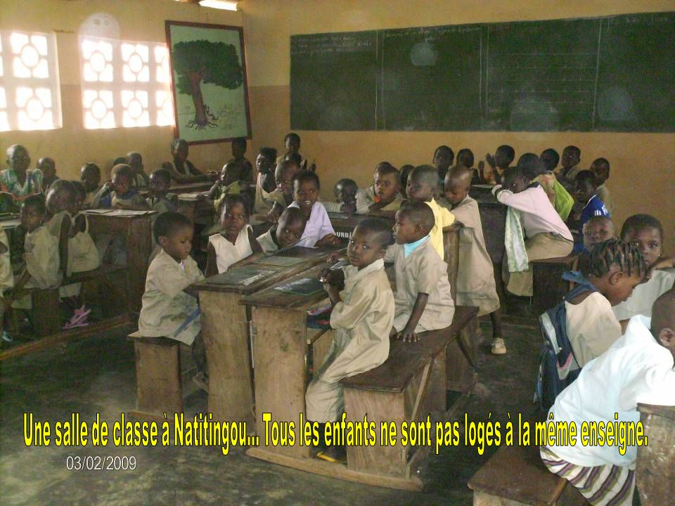 Une salle de classe à Natitingou