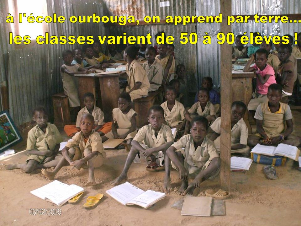 à l école ourbouga, on apprend par terre...