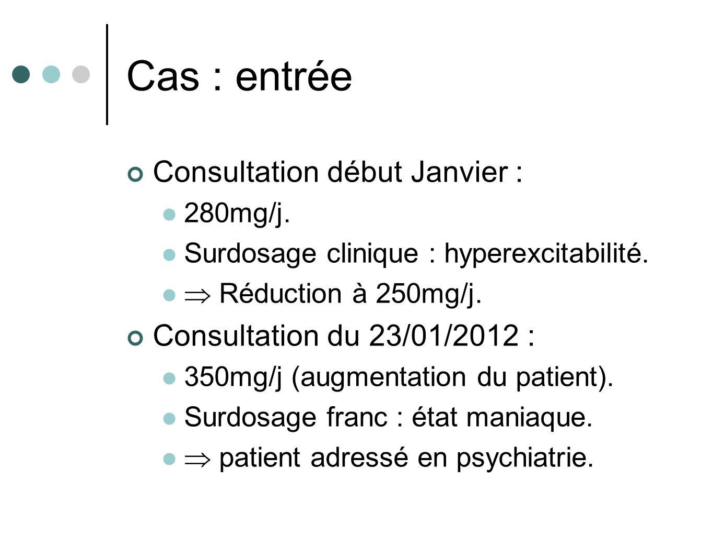Cas : entrée Consultation début Janvier : Consultation du 23/01/2012 :