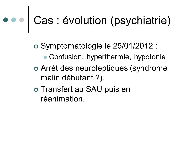 Cas : évolution (psychiatrie)