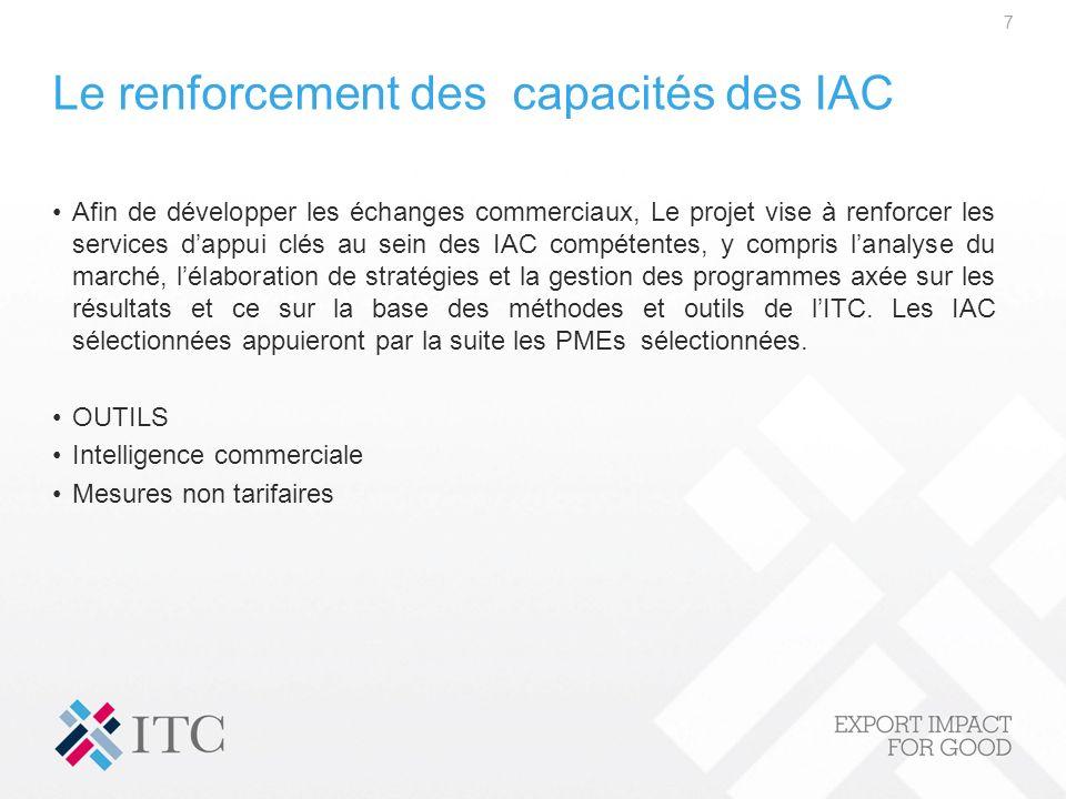 Le renforcement des capacités des IAC