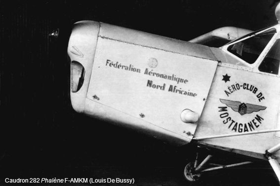 Caudron 282 Phalène F-AMKM (Louis De Bussy)