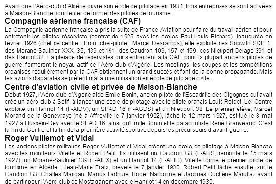 Compagnie aérienne française (CAF)