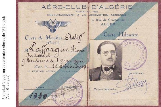 Pierre Laffargue, un des premiers élèves de l'Aéro-club