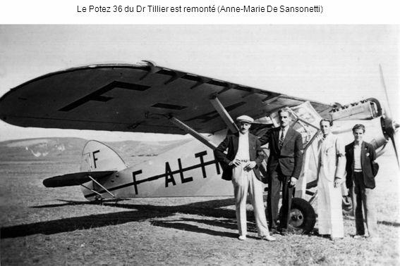 Le Potez 36 du Dr Tillier est remonté (Anne-Marie De Sansonetti)