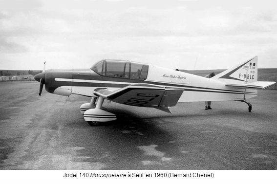 Jodel 140 Mousquetaire à Sétif en 1960 (Bernard Chenel)