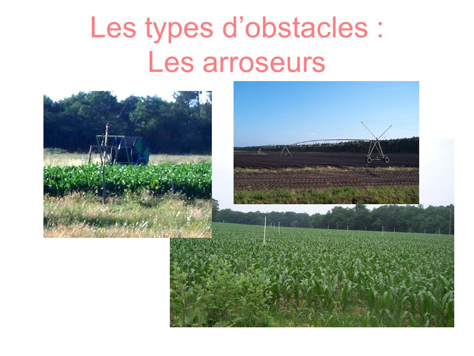 Les types d'obstacles : Les arroseurs