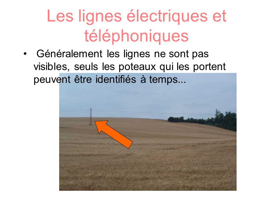Les lignes électriques et téléphoniques
