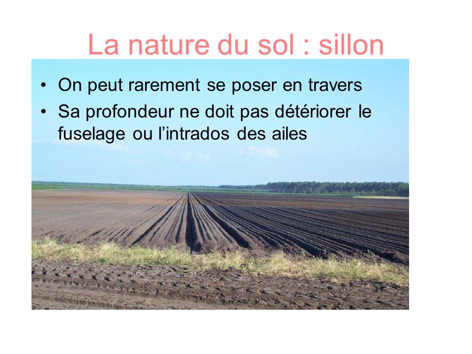 La nature du sol : sillon
