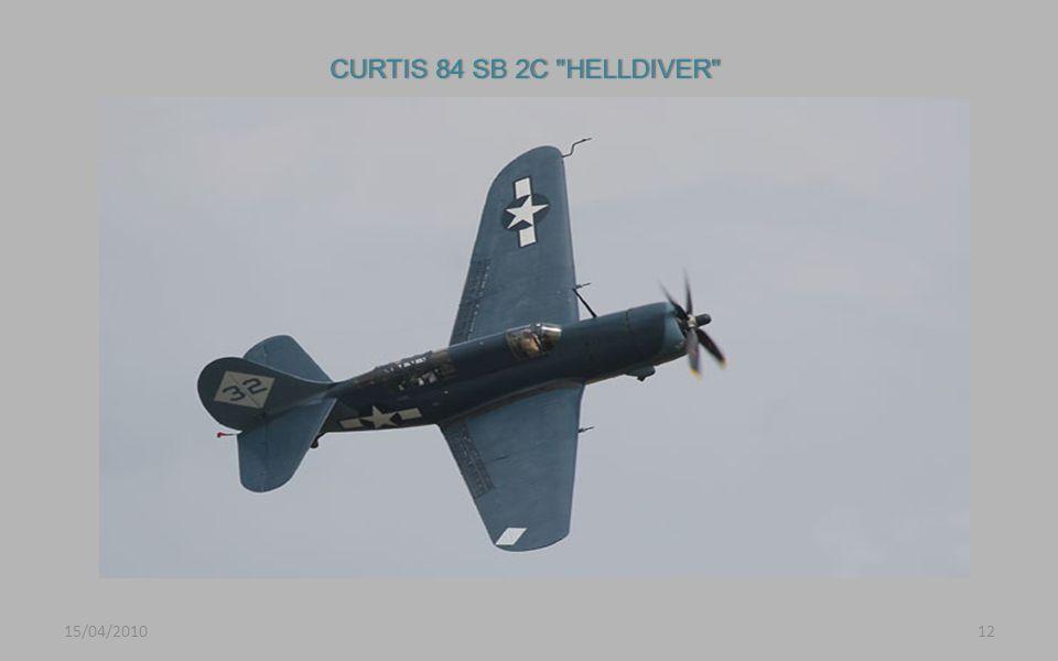 CURTIS 84 SB 2C HELLDIVER 15/04/2010