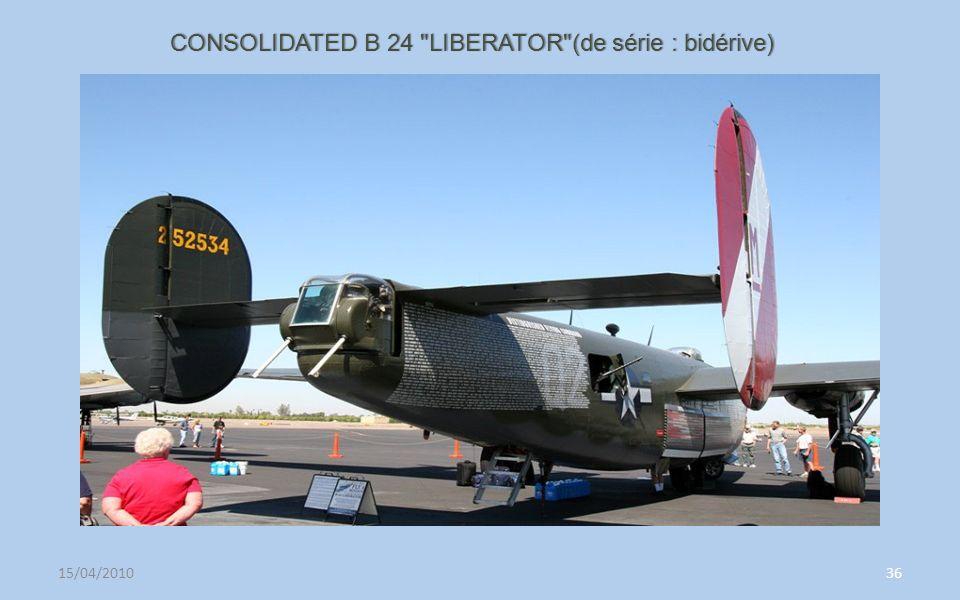 CONSOLIDATED B 24 LIBERATOR (de série : bidérive)