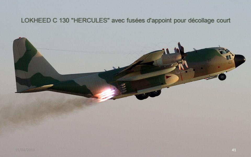 LOKHEED C 130 HERCULES avec fusées d appoint pour décollage court