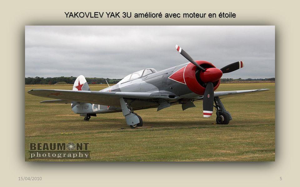 YAKOVLEV YAK 3U amélioré avec moteur en étoile