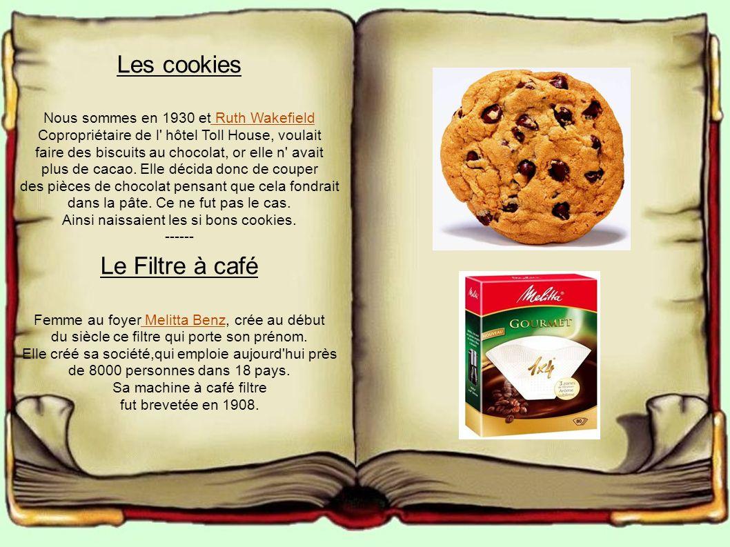 Les cookies Le Filtre à café Nous sommes en 1930 et Ruth Wakefield