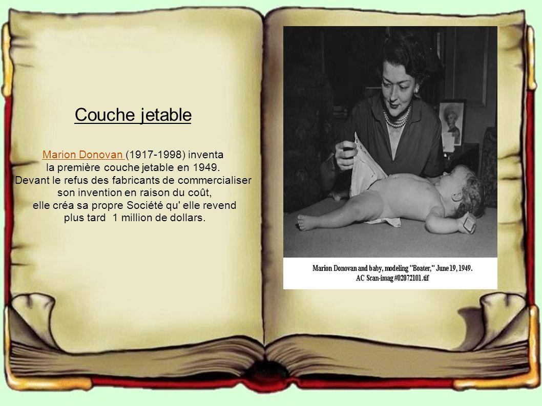 Couche jetable Marion Donovan (1917-1998) inventa