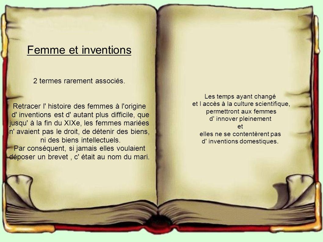 Femme et inventions 2 termes rarement associés.