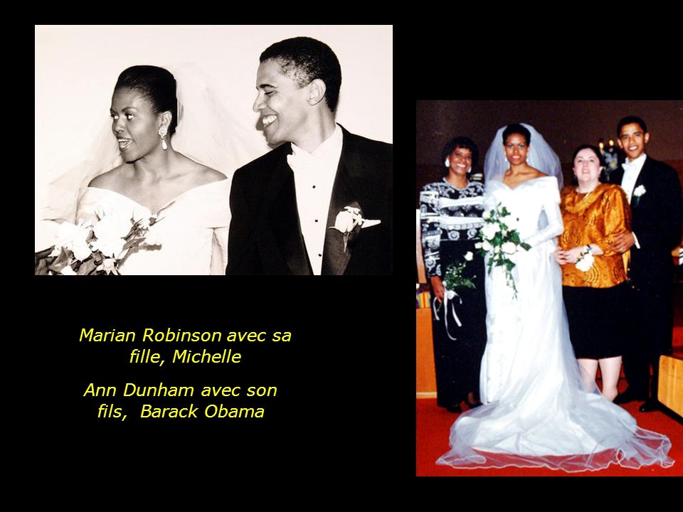Marian Robinson avec sa fille, Michelle