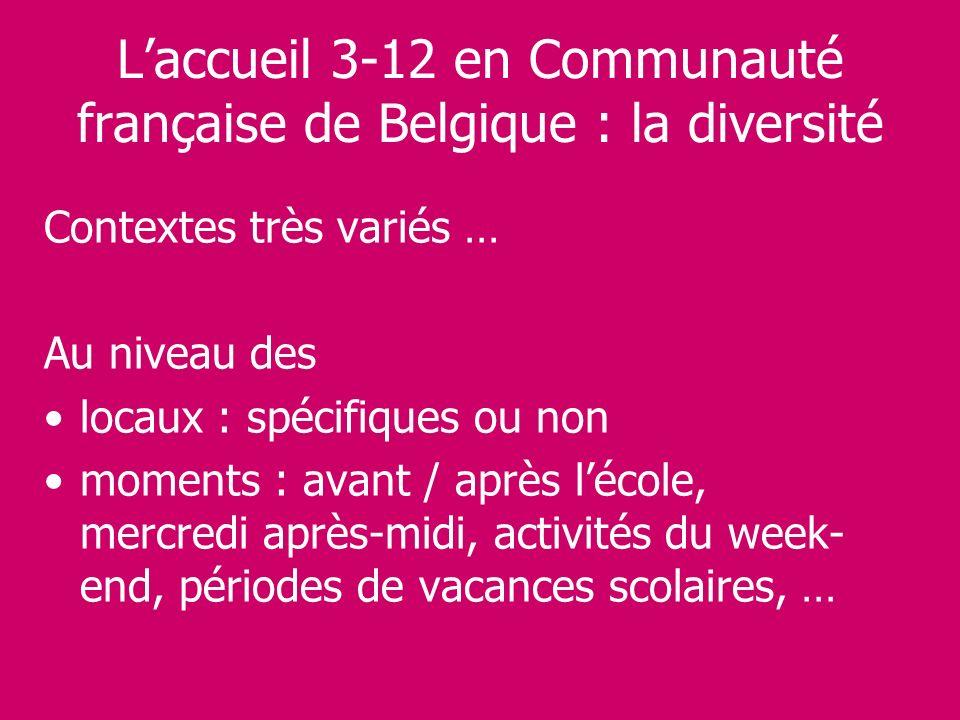 L'accueil 3-12 en Communauté française de Belgique : la diversité