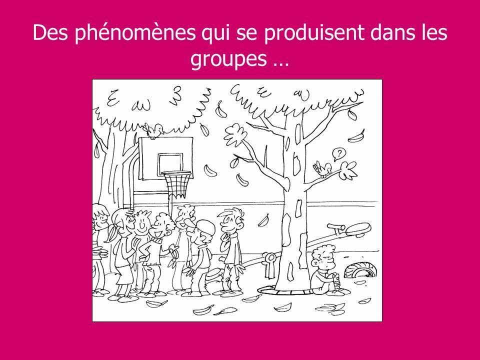 Des phénomènes qui se produisent dans les groupes …