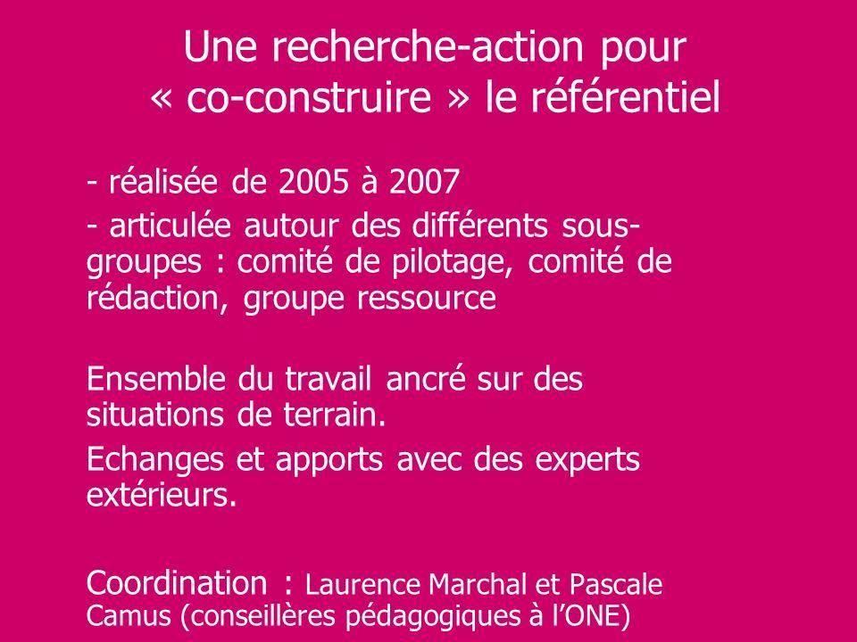 Une recherche-action pour « co-construire » le référentiel