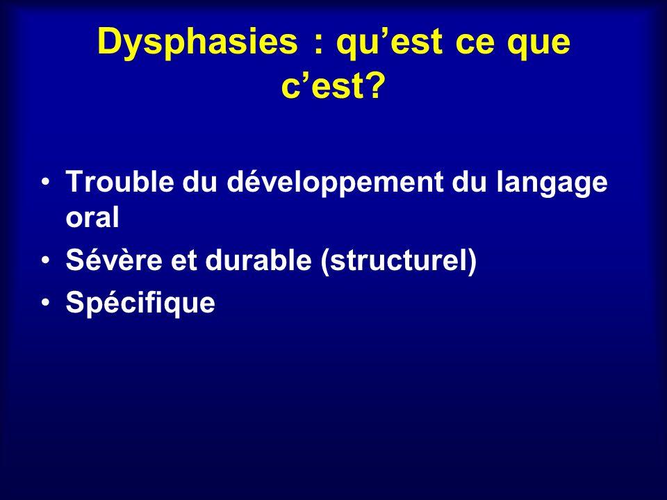 Dysphasies : qu'est ce que c'est