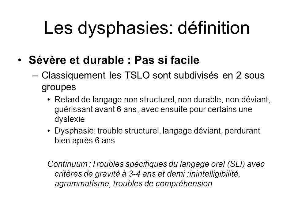 Les dysphasies: définition