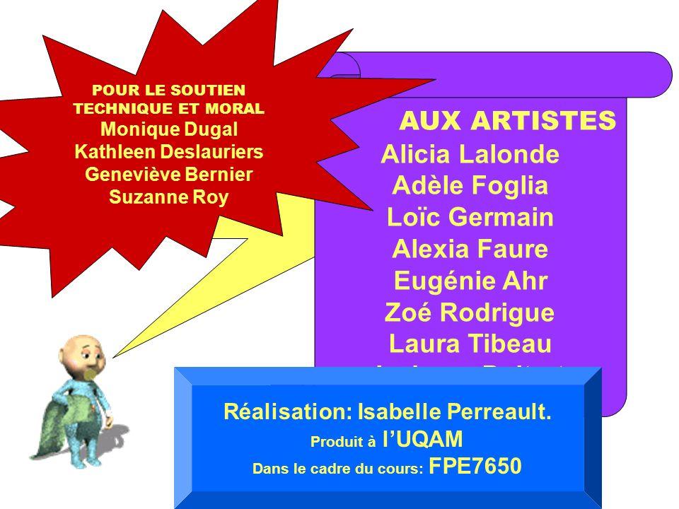 HÉ, MERCI ! AUX ARTISTES Alicia Lalonde Adèle Foglia Loïc Germain