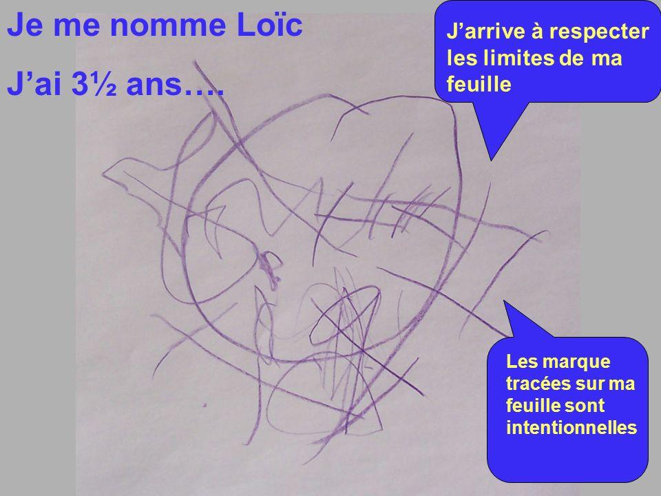 Je me nomme Loïc J'ai 3½ ans….