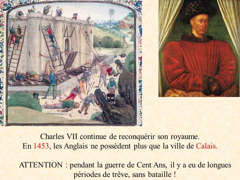 Charles VII continue de reconquérir son royaume.