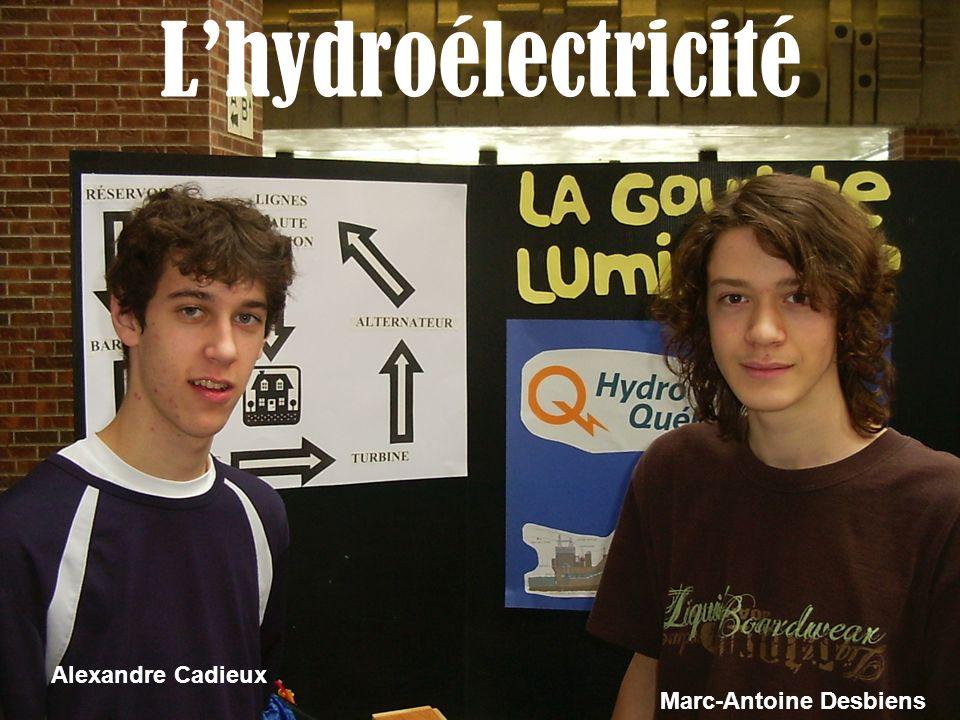 L'hydroélectricité Alexandre Cadieux Marc-Antoine Desbiens