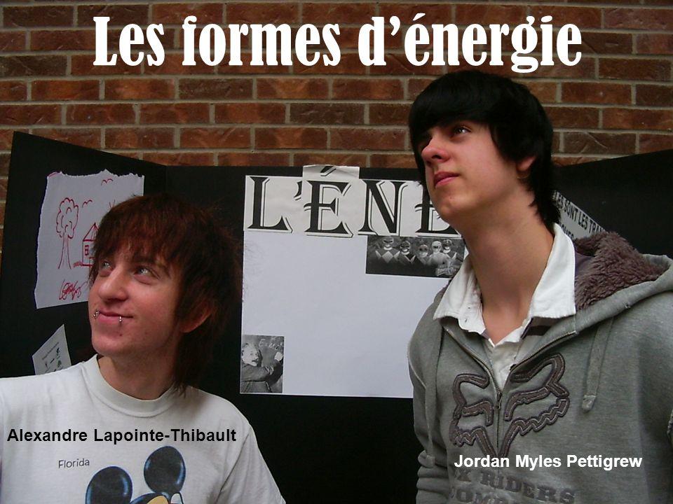 Les formes d'énergie Alexandre Lapointe-Thibault