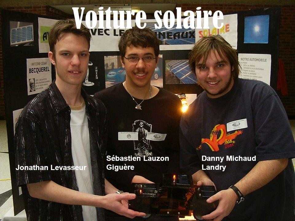 Voiture solaire Sébastien Lauzon Giguère Danny Michaud Landry