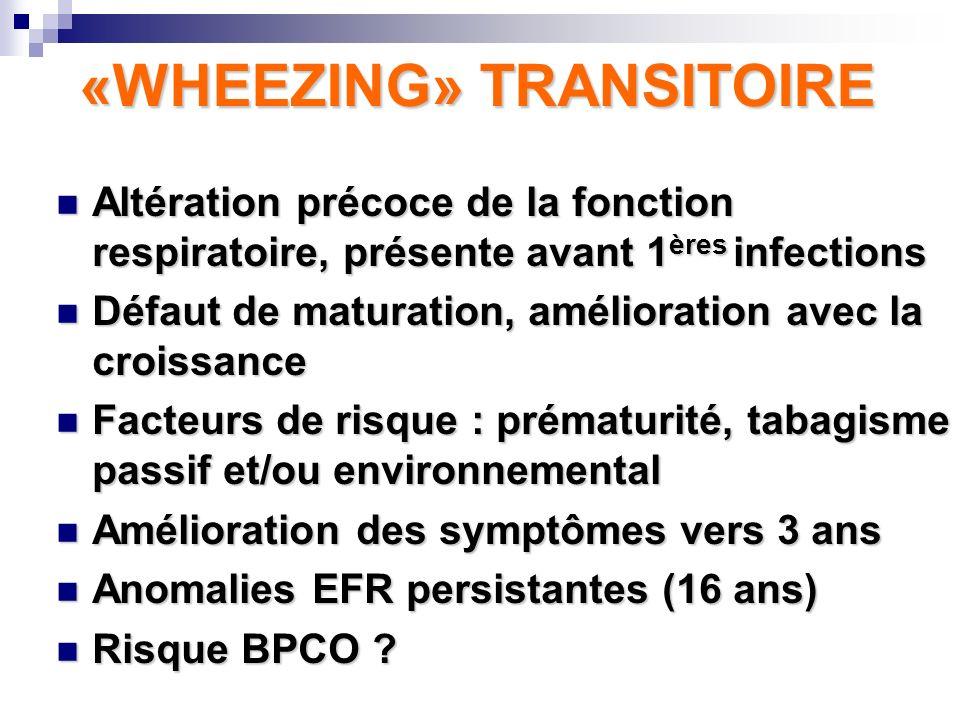 «WHEEZING» TRANSITOIRE