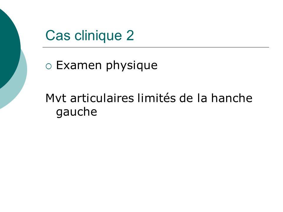 Cas clinique 2 Examen physique