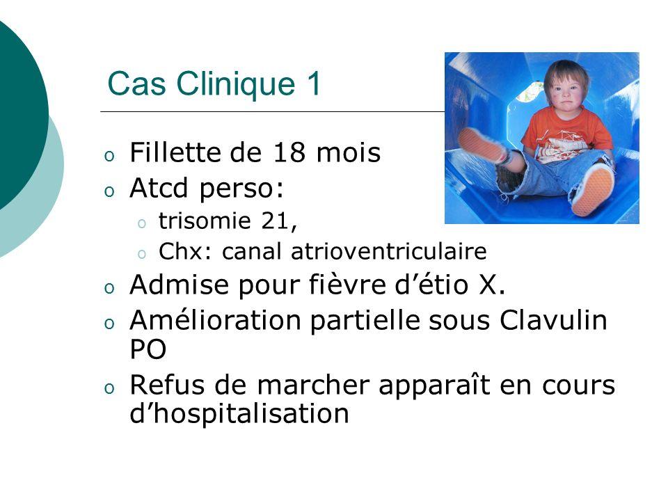 Cas Clinique 1 Fillette de 18 mois Atcd perso: