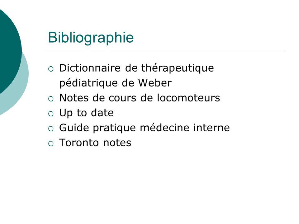 Bibliographie Dictionnaire de thérapeutique pédiatrique de Weber