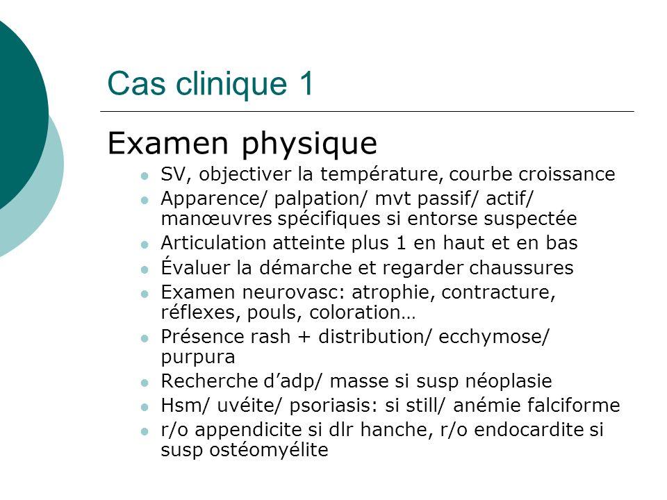 Cas clinique 1 Examen physique