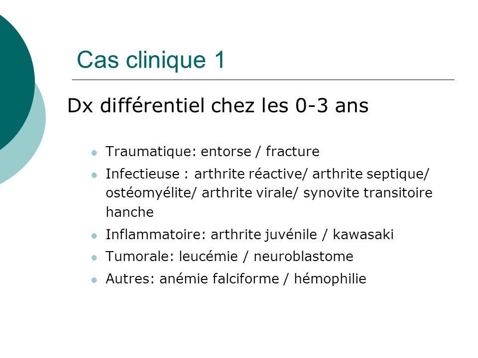 Cas clinique 1 Dx différentiel chez les 0-3 ans