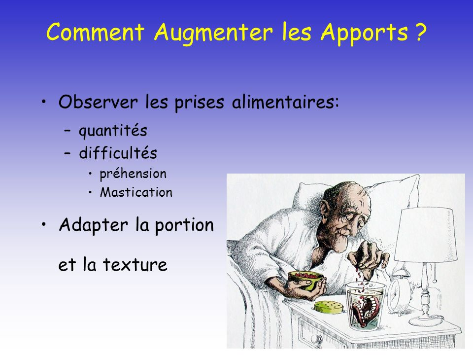 Comment Augmenter les Apports