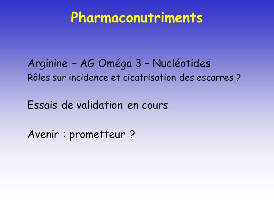 Pharmaconutriments Arginine – AG Oméga 3 – Nucléotides