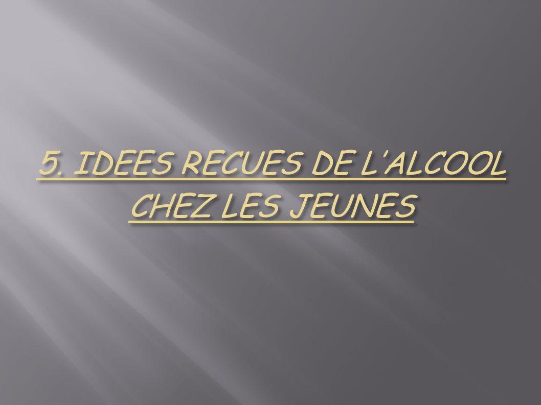 5. IDEES RECUES DE L'ALCOOL CHEZ LES JEUNES