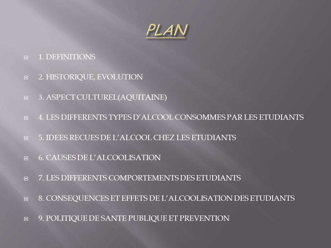 PLAN 1. DEFINITIONS 2. HISTORIQUE, EVOLUTION