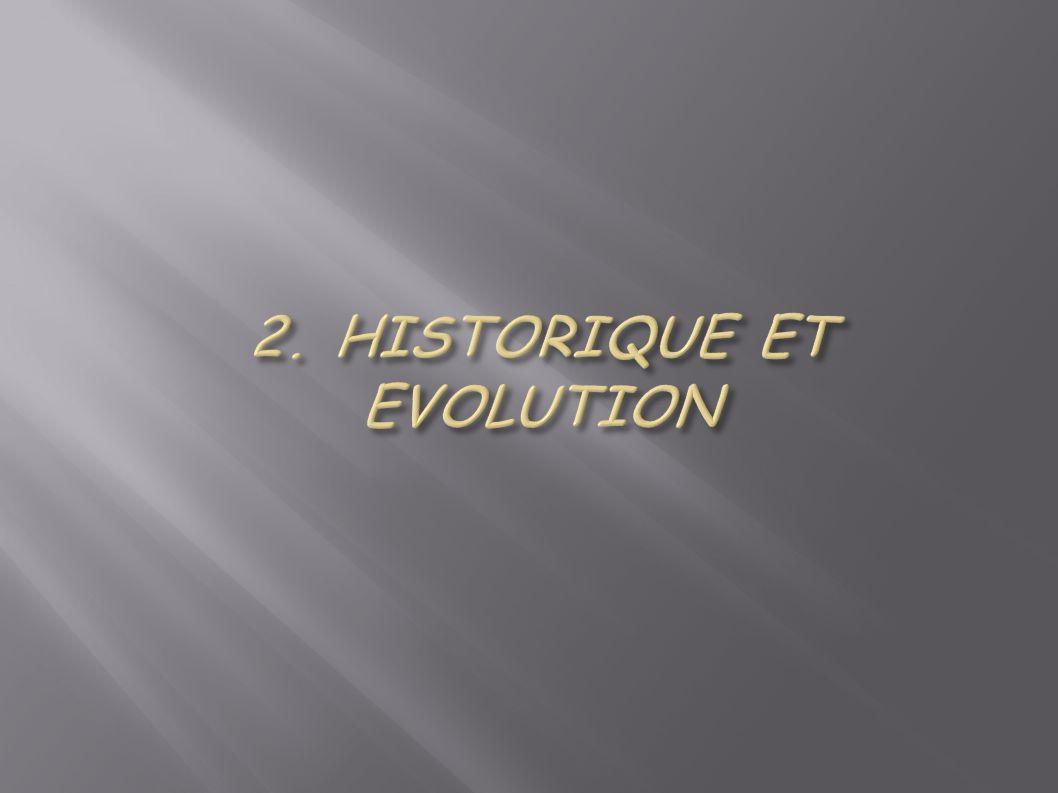 2. HISTORIQUE ET EVOLUTION