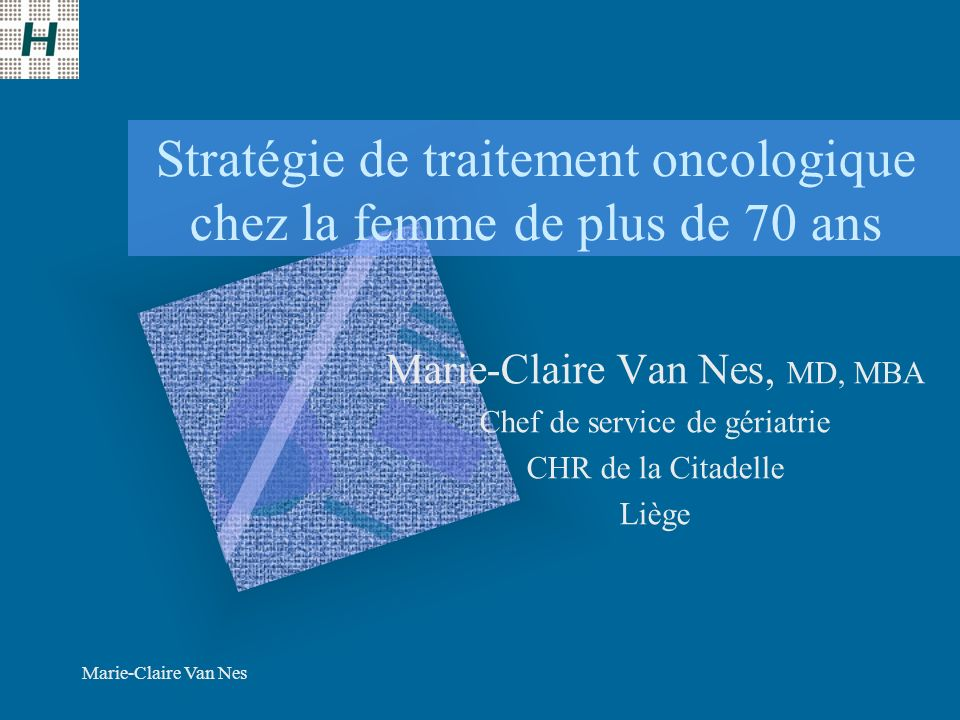 Stratégie de traitement oncologique chez la femme de plus de 70 ans