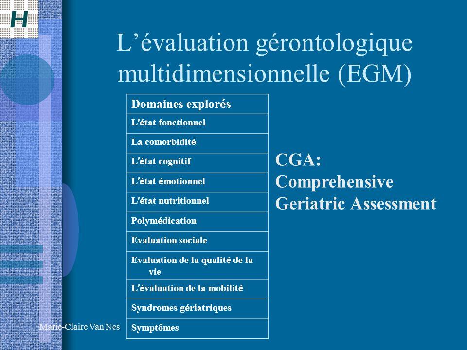 L'évaluation gérontologique multidimensionnelle (EGM)
