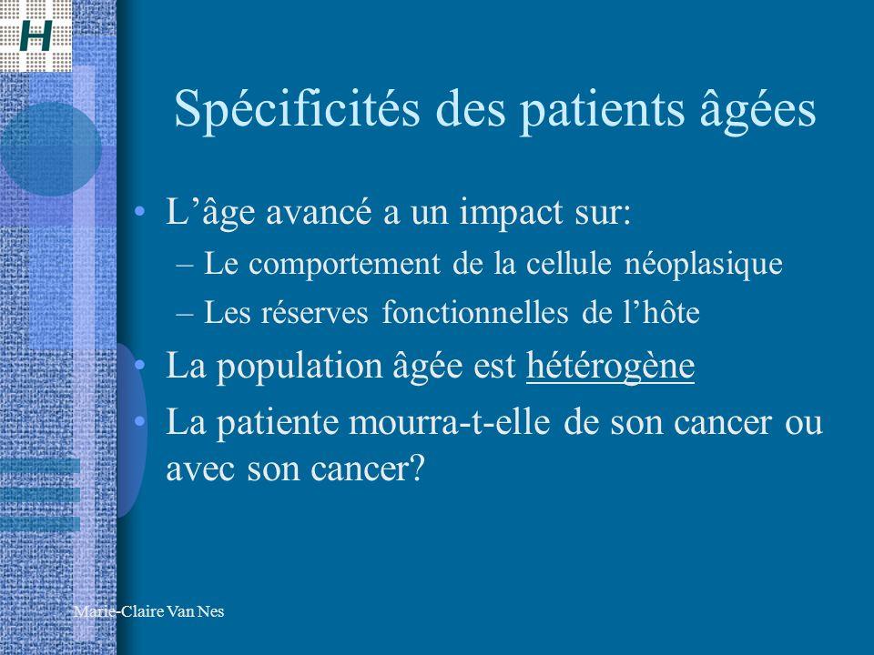Spécificités des patients âgées
