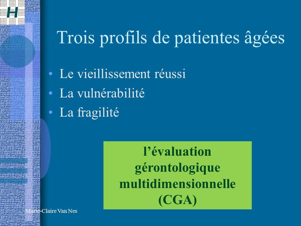 Trois profils de patientes âgées