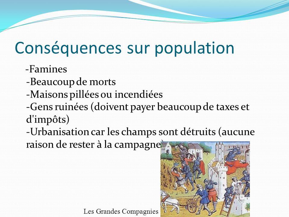 Conséquences sur population