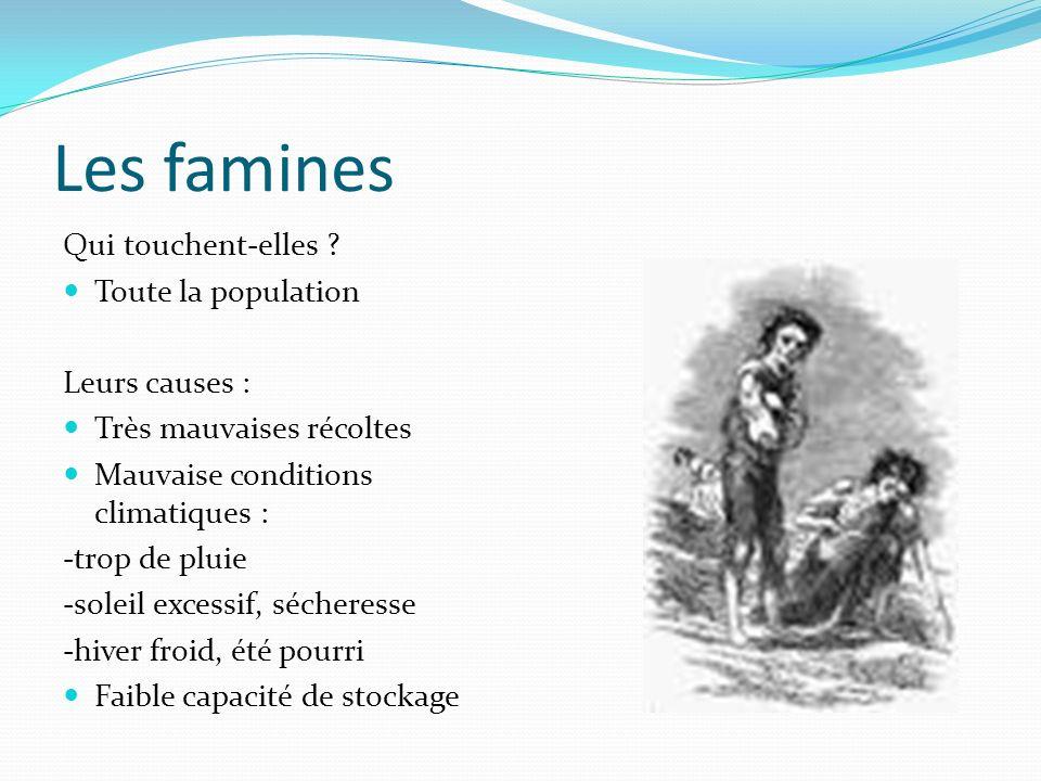 Les famines Qui touchent-elles Toute la population Leurs causes :
